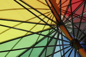 An abstract image showing the spokes of an umbrella